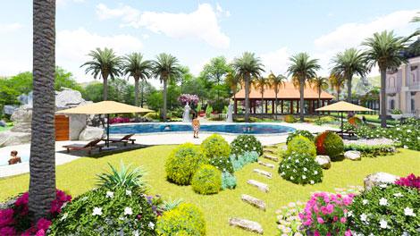 Concept chăm sóc cảnh quan khu nghỉ dưỡng Bình Phước